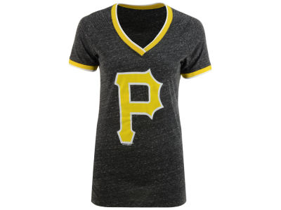 Pittsburgh Pirates 5th & Ocean MLB Women's LE Triple Flock T-Shirt