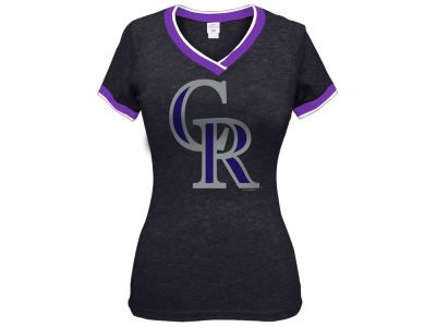 Colorado Rockies 5th & Ocean MLB Women's LE Triple Flock T-Shirt