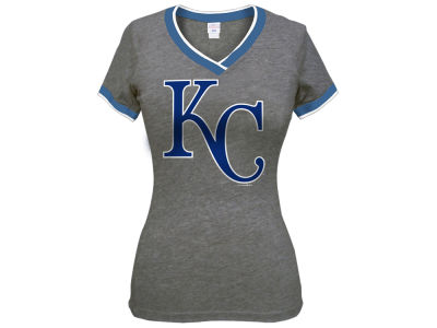 Kansas City Royals 5th & Ocean MLB Women's LE Triple Flock T-Shirt