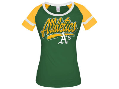 Oakland Athletics 5th & Ocean MLB Women's Homerun T-Shirt
