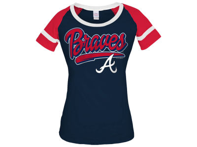 Atlanta Braves 5th & Ocean MLB Women's Homerun T-Shirt