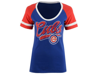 Chicago Cubs 5th & Ocean MLB Women's Homerun T-Shirt