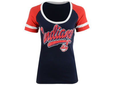 Cleveland Indians 5th & Ocean MLB Women's Homerun T-Shirt