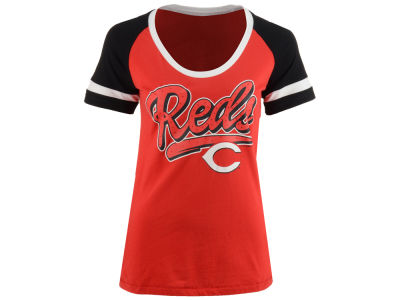 Cincinnati Reds 5th & Ocean MLB Women's Homerun T-Shirt
