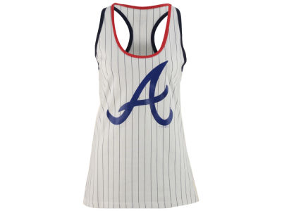 Atlanta Braves 5th & Ocean MLB Women's Pinstripe Glitter Tank