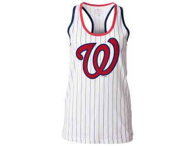 Washington Nationals 5th & Ocean MLB Women's Pinstripe Glitter Tank