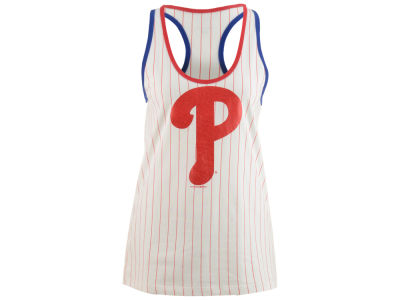 Philadelphia Phillies 5th & Ocean MLB Women's Pinstripe Glitter Tank