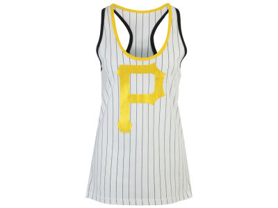 Pittsburgh Pirates 5th & Ocean MLB Women's Pinstripe Glitter Tank