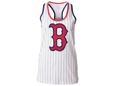 Boston Red Sox 5th & Ocean MLB Women's Pinstripe Glitter Tank