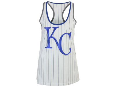 Kansas City Royals 5th & Ocean MLB Women's Pinstripe Glitter Tank