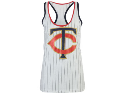 Minnesota Twins 5th & Ocean MLB Women's Pinstripe Glitter Tank