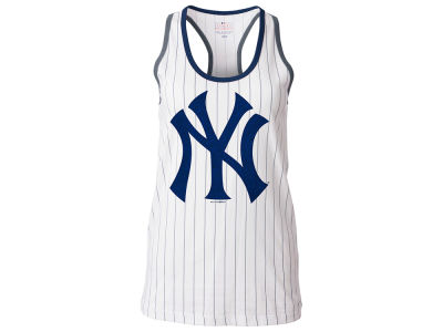 New York Yankees 5th & Ocean MLB Women's Pinstripe Glitter Tank
