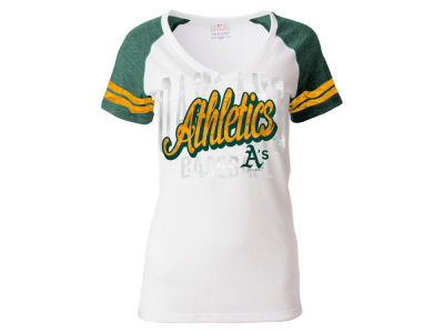 Oakland Athletics 5th & Ocean MLB Women's White Hot T-Shirt