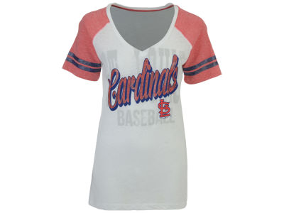 St. Louis Cardinals 5th & Ocean MLB Women's White Hot T-Shirt