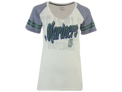 Seattle Mariners 5th & Ocean MLB Women's White Hot T-Shirt