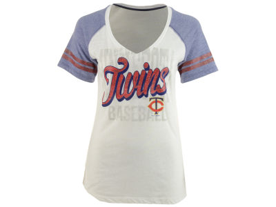 Minnesota Twins 5th & Ocean MLB Women's White Hot T-Shirt