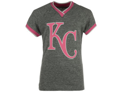 Kansas City Royals 5th & Ocean MLB Girls LE Triple Flock T-Shirt