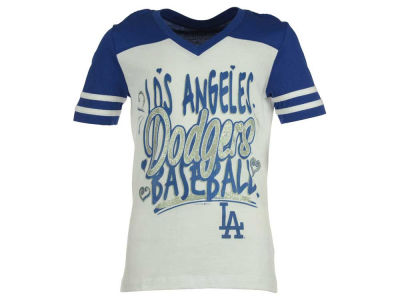 Los Angeles Dodgers 5th & Ocean MLB Youth Girls Team Glitter T-Shirt