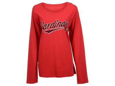 Louisville Cardinals NCAA Women's Curves Long Sleeve Plus Size T-Shirt