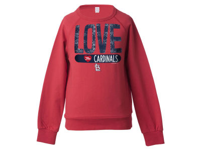 St. Louis Cardinals 5th & Ocean MLB Girls Sequin Raglan Pull Over Sweatshirts