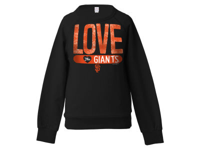 San Francisco Giants 5th & Ocean MLB Girls Sequin Raglan Pull Over Sweatshirts