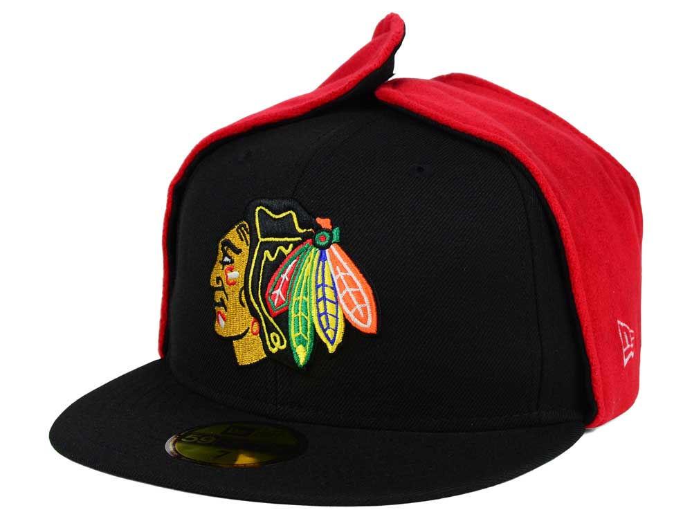 be66eb3ead9 Chicago Blackhawks New Era NHL Team Dog Ear 59FIFTY Cap