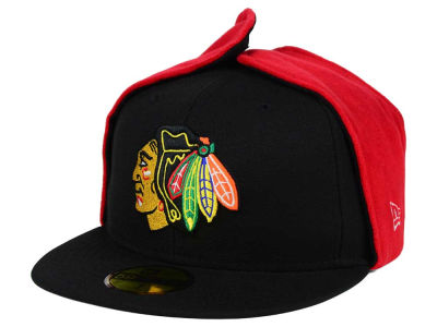 Chicago Blackhawks New Era NHL Team Dog Ear 59FIFTY Cap