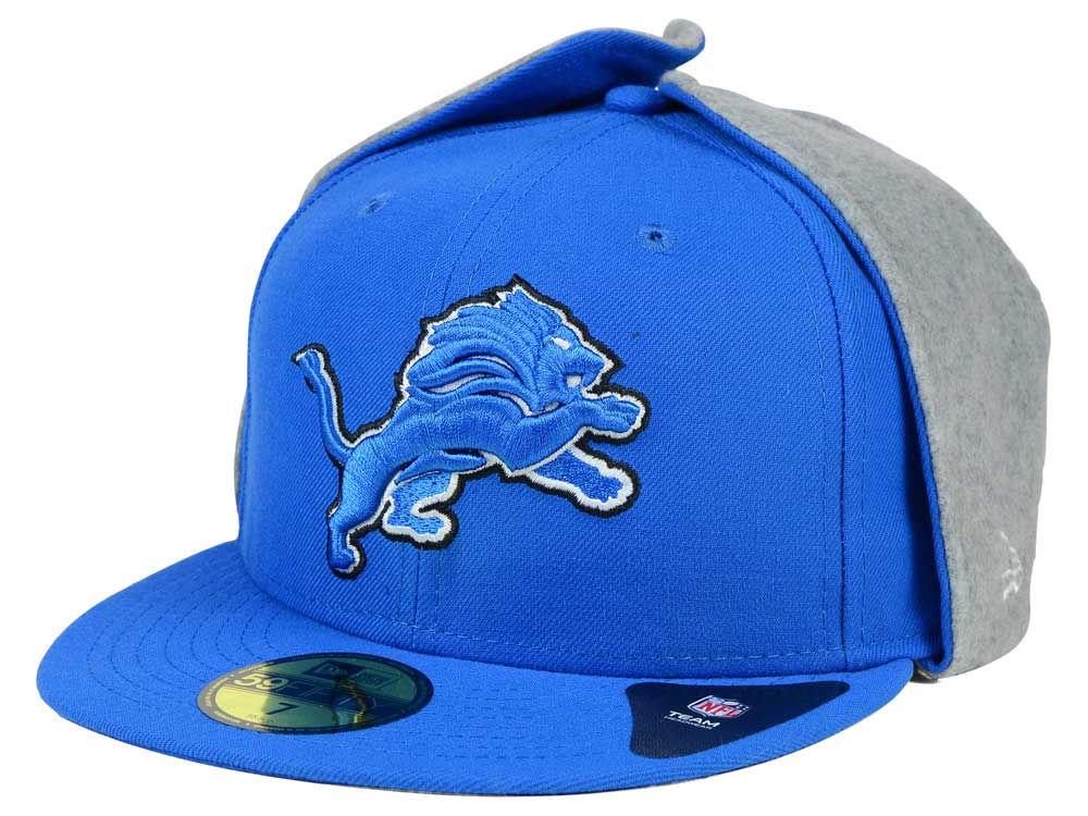 6ea5a36c6bc Detroit Lions New Era NFL Team Dog Ear 59FIFTY Cap