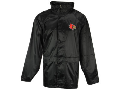 Louisville Cardinals NCAA Men's Clutch Hit Hooded Rain Jacket