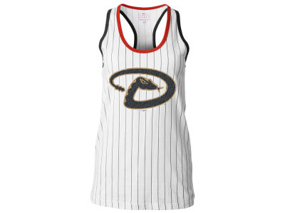 Arizona Diamondbacks 5th & Ocean MLB Women's Pinstripe Glitter Tank