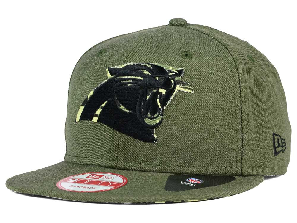 Carolina Panthers New Era NFL Sgt Patch 9FIFTY Snapback Cap  a5d74e991