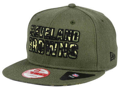 Cleveland Browns New Era NFL Sgt Patch 9FIFTY Snapback Cap