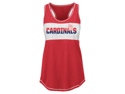 St. Louis Cardinals Majestic MLB Women's Gametime Glitz Tank