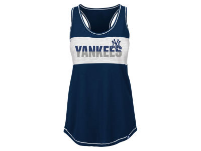 New York Yankees Majestic MLB Women's Gametime Glitz Tank