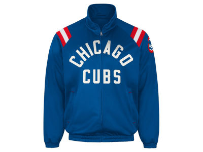 Chicago Cubs GIII MLB Men's Coop Centerfield Full Zip Track Jacket