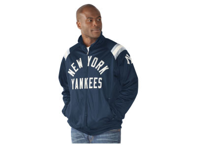 New York Yankees GIII MLB Men's Coop Centerfield Full Zip Track Jacket