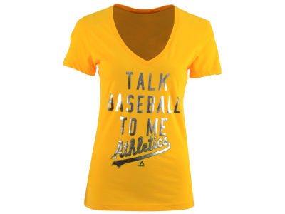 Oakland Athletics MLB Women's Talk Baseball T-Shirt