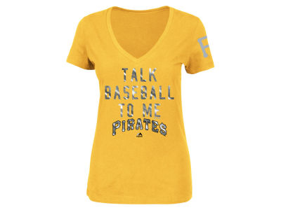 Pittsburgh Pirates MLB Women's Talk Baseball T-Shirt