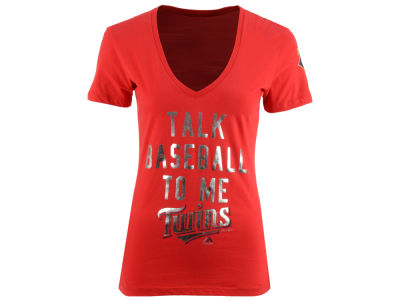 Minnesota Twins Majestic MLB Women's Talk Baseball T-Shirt