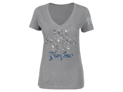 New York Yankees Majestic MLB Women's Talk Baseball T-Shirt