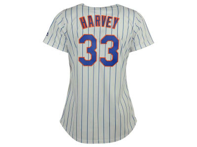 New York Mets Matt Harvey Majestic MLB Women's Cool Base Player Replica Jersey