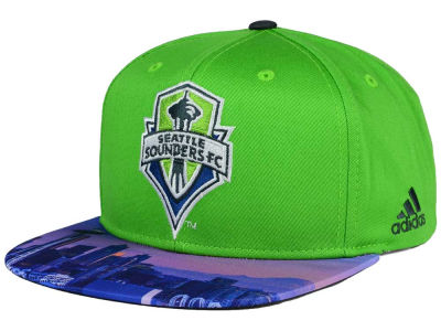 Seattle Sounders FC adidas MLS Skyline Snapback Cap
