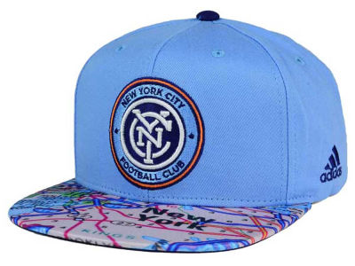 New York City FC adidas MLS Skyline Snapback Cap