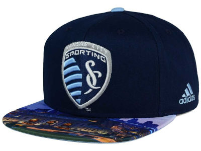 Sporting Kansas City adidas MLS Skyline Snapback Cap