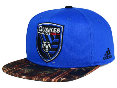 San Jose Earthquakes adidas MLS Skyline Snapback Cap