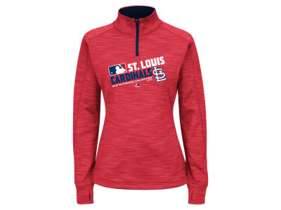 St. Louis Cardinals Majestic MLB Women's AC Quarter Zip Pullover Shirt