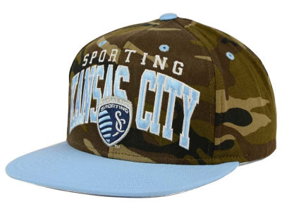 Sporting Kansas City adidas MLS Camo Team Color Snapback Cap
