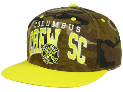 Columbus Crew SC adidas MLS Camo Team Color Snapback Cap