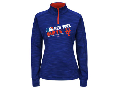 New York Mets Majestic MLB Women's AC Quarter Zip Pullover Shirt