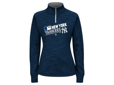 New York Yankees MLB Women's AC Quarter Zip Pullover Shirt